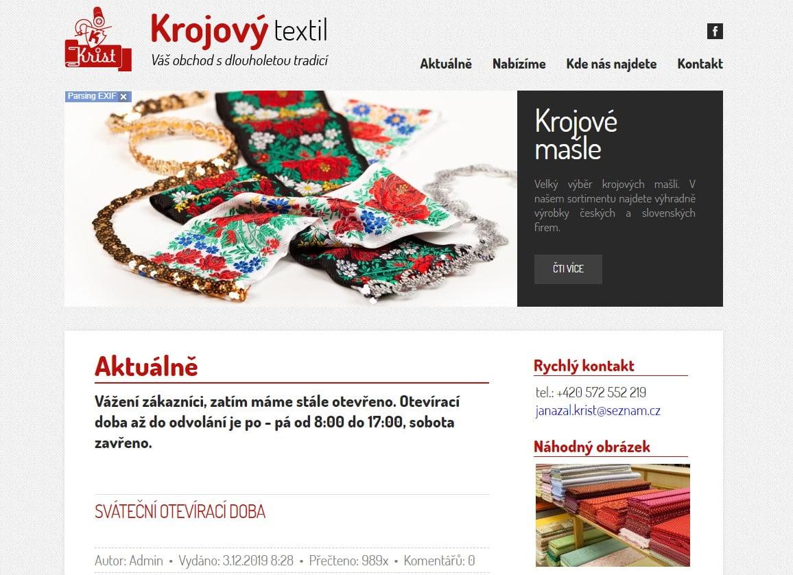 Krojový textil